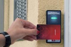 Otevírání pomocí městské karty